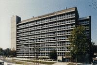 Ansicht des Verlagsgebäudes